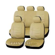 Premium Leder Kunstleder Sitzbezug Sitzbezüge Bezug Beige für viele Fahrzeuge