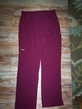 WOMENS SIZE LARGE GRAY'S ANATOMY SIGNATURE  BARCO BURGANDY SCRUB BOTTOM PANTS