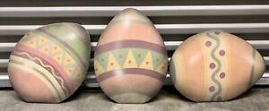 3 BONNIE BARRETT  BOARDWALK ORIGINALS  EASTER Eggs  HAND PAINTED