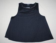 TOPSHOP Black w/ Studded Collar Sleeveless Blouse Women's Size 8 (UK12) NWT