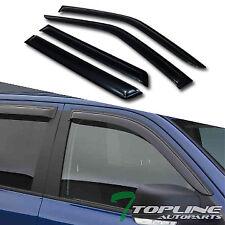 Topline 746756364132 Window Visors Rain Guard Vent Deflectors 4 Pieces - Smoke