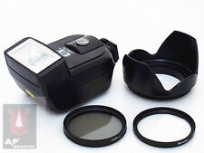 CK6u Filter CPL / UV + Lens Hood + Flash for Nikon D3000 D3100 w/ 18-55mm Lens