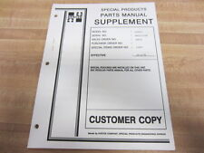 Hyster H100XL2 1999 Parts Manual Supplement Customer Copy - Used