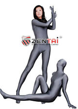 Silver Grey Unisex Lycra Spandex Zentai Suit S-XXL