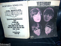 THE BEATLES OFFICIAL ORIGINAL SHEET MUSIC 1965 YESTERDAY Northern Songs Lovely