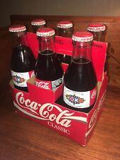 Vintage Coca-Cola SIX PACK in CARRIER UNOPENED 8 oz. 1998 NFL SUPER BOWL XXXII