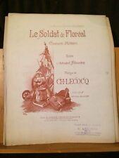 Ch. Lecocq Le Soldat de Floréal chanson militaire partition chant piano Legouix
