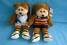 BEANIE KIDS ANDY THE ADELAIDE CROWS BEAR HOME AWAY CLASH AFL FOOTY PLUSH GIFT