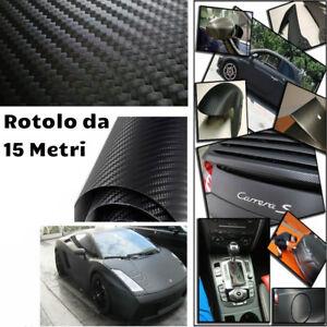 Rotolo pellicola effetto carbonio 3D adesiva ideale per car wrapping 130cm x 15M