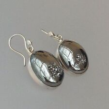 Mexican Sterling Silver & Titanium Drucis Earrings