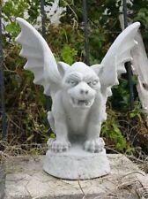Halloween prop (2) Gargoyles Concrete Statues Garden New Stone Gift Yard Art