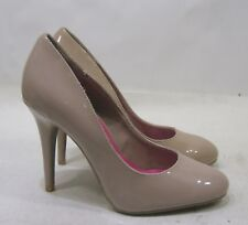 """new ladies NUDE 4.5""""Stiletto high heel round toe sexy shoes Size  8.5"""