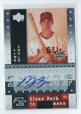 Matt Brown 2007 Upper Deck Future Stars Clear Path To Greatness Autograph #133