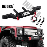 Metal Front Bumper with Light for 1/10 RC Rock Crawler Car Traxxas TRX4 Defender