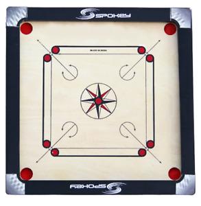 68.6cm Spokey Carrom Board Mit Gratis 24-Coins, 1-Striker + Pulver