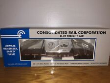 CONSOLIDATED RAIL CORPORATION CONRAIL 0/027 #33-7613 FLAT CAR W/CRATE LOAD NEW
