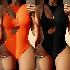 Women One Piece Swimming Costume Padded Swimsuit Tummy Control Swimwear Monokini