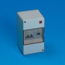 RCD Consumer unit fuse box, Double Pole MCB reverse polarity led. Caravan Camper