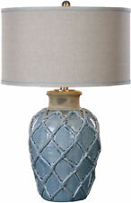 Parterre Pale Blue Table Lamp by Uttermost #27139-1