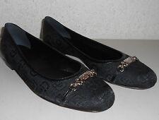 GUCCI Horsebit Jacquard & Leather Ballet Flats ~ Black Sz 38 (US 8) ~ NIB