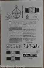 1925 GRUEN Watch advertisement, Pentagon Pocket Watch, Tank wristwatch