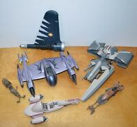 "STAR WARS Ships Parts Lot Custom Repair Clone Wars Hasbro Speeder Bike 3.75"""