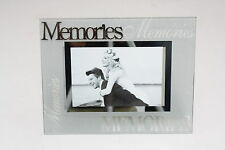 Luxury Frosted Glass / Special Topic Photo frame - 'Memories' - 4x6 inch/10x15cm
