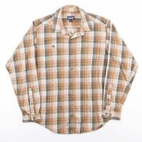Vintage PATAGONIA Brown Checked Cotton Long Sleeve Flannel Shirt Size Mens Small