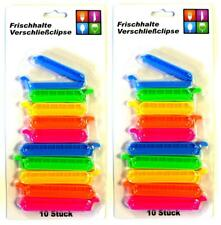 20 Stück Verschlussklammern   Beutelverschluss   Frischhalteclip   Tütenclip