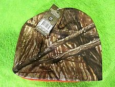 Reversible Camo/Flourescent Orange Beanie Hunting Warm Lot of Two