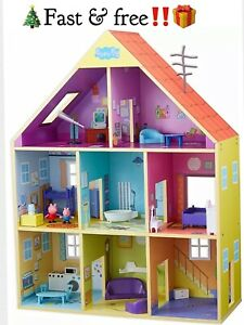 Peppa Pig Wooden Playhouse, Multicoloured Ultimate Wooden House New.GREAT GIFT🎄