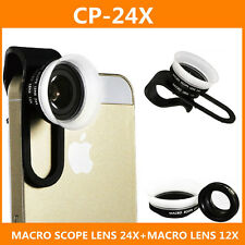 Micro Photography Lenses 12-24X Super Macro Camera Lens for Mobile Phone Samsung