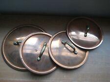 Vintage Lot Of Copper Pot Lids
