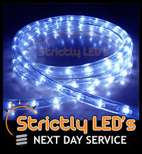 Blue LED Rope Lights Christmas Garden Decking Parties Outdoor Mood Wall Lighting