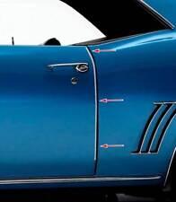 1970-81 Camaro Pair New Dii Firebird Door Edge Guards Stainless