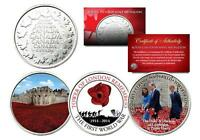 TOWER OF LONDON REMEMBRANCE Set of 3 Royal Canadian Mint Medallion Coins POPPY