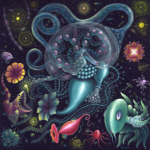 """""""SIPHONOPHORE""""  An Original Fine Art Print, Signed Giclee by R.S. Connett"""