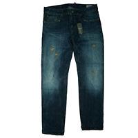 G-Star Limited 3301 Low Tapered RL Destroy Herren Jeans Hose W31 L34 Blau NEU GS