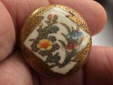 Meiji period large satsuma ware button 30 Mm signed.