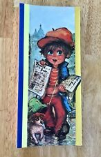 Vintage Photo Album For Kodak Instamatic Pictures Newspaper Boy Dog Rainbow