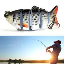3D Eyes 6 Segment 20g 10cm Fishing Lure Swimbait Hard Bait Treble Hook Crankbait
