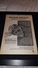 Dr. Zhivago Rare Original 1968 Box Promo Poster Ad Framed!