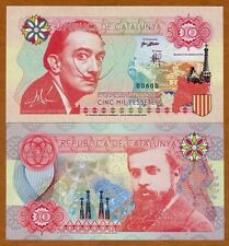 Spain (Catalonia) 2016 Dali & Gaudi 5000 Pessetes - Private Issue - UNC & Crisp