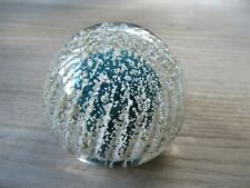 """Vintage Scottish Strathearn Sea Green Urchin Paperweight 2.5"""""""