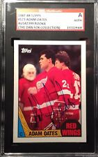 1987-88 Topps Adam Oates Autographed Rookie SGC Authentified Red Wings RC Auto