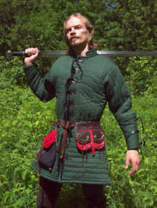 Medieval Thick Padded Gambeson suit of armor quilted costumes theater larp TUU1