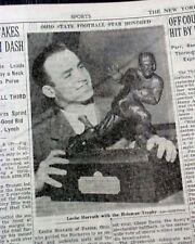 OHIO STATE BUCKEYES Les Horvath Wins Heisman Trophy 1944 World War II Newspaper