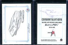 2001 Star Trek 35th Anniversary Galileo Shuttlecraft Cris Bolson Sketch Card