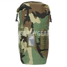 US Army Woodland Camo NBC Chem Suit Bag Small Back Pack Straps Mopp Gear GI