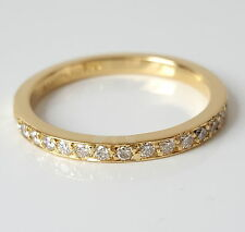 WERT 1490,- IF-VVS (H) 0,32 CT BRILLANT MEMORY RING IN 750 / 18 KT GOLD ZEITLOS